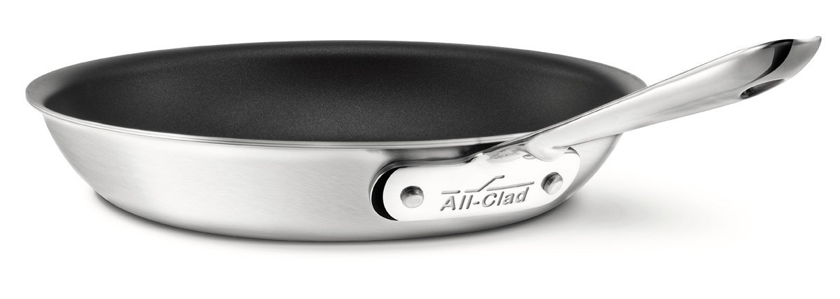 all clad d5 stainless steel nonstick omelette pan