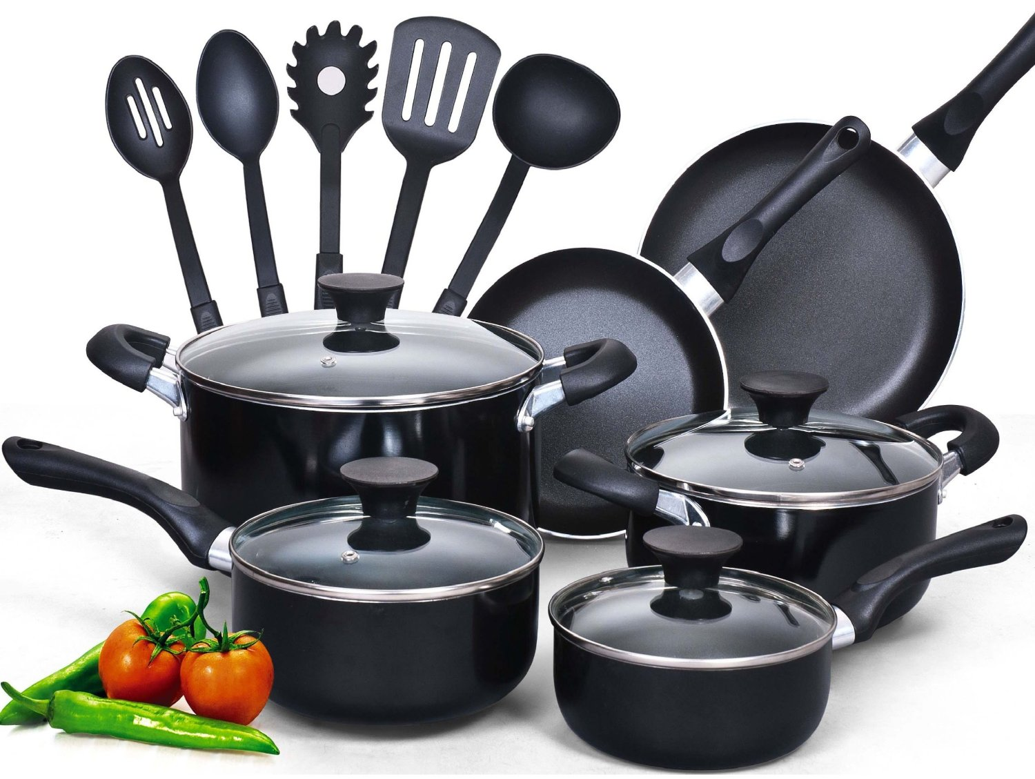 Best pots and pans 5 cookware sets with high rating for Kitchen set vessels
