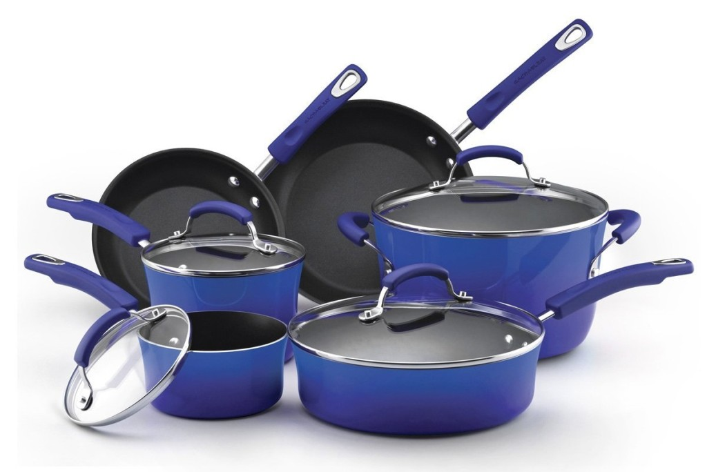 Purchase this Rachael Ray Piece Marine Blue Hard-Anodized Nonstick Cookware Set between 06/15/ and 01/31/ to qualify for a $40 mail-in rebate. One rebate per household per order. For more details, or to print out your rebate form, click here.