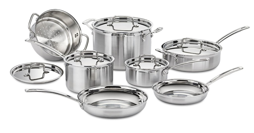 cuisinart multiclad pro stainless steel 12 piece