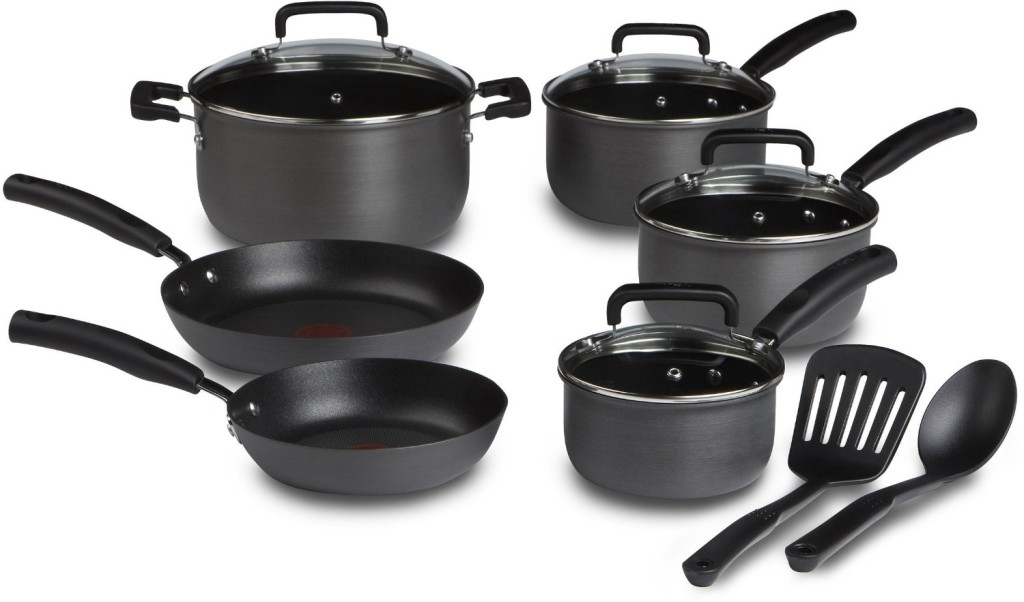t fal signature hard anodized 12 piece cookware