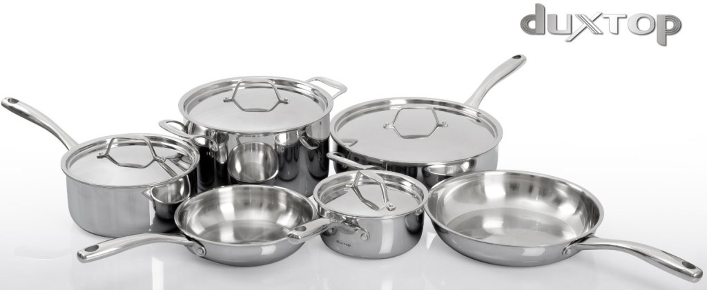duxtop whole-clad tri-ply stainless steel set