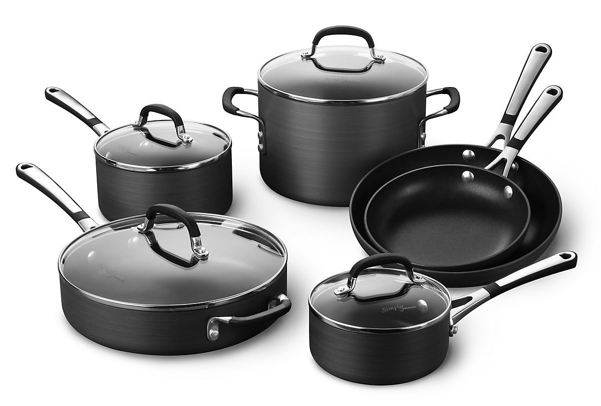 Simply Calphalon Nonstick 10 Piece Set Review Hard Anodized