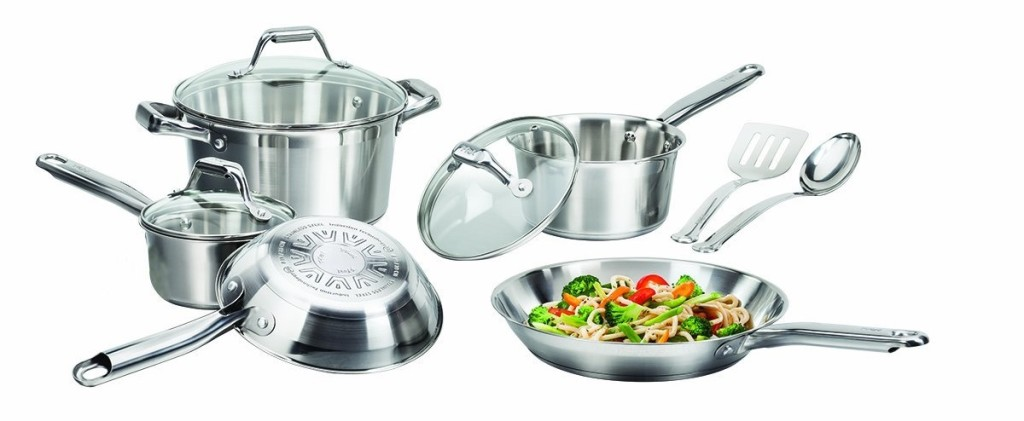 t fal elegance stainless steel cookware