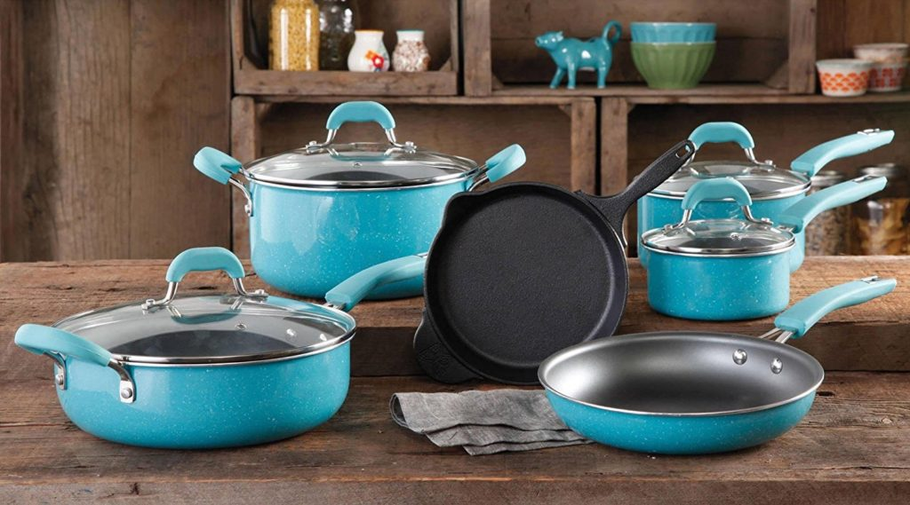 Pioneer Woman Cookware Set Review : Porcelain Enamel 10