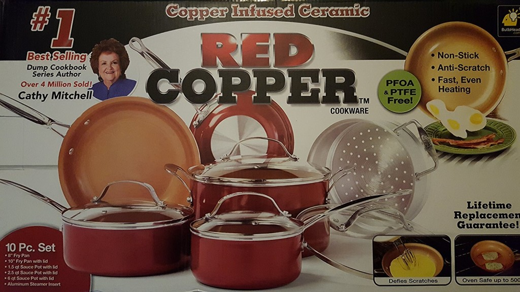 Red Copper Cookware Set