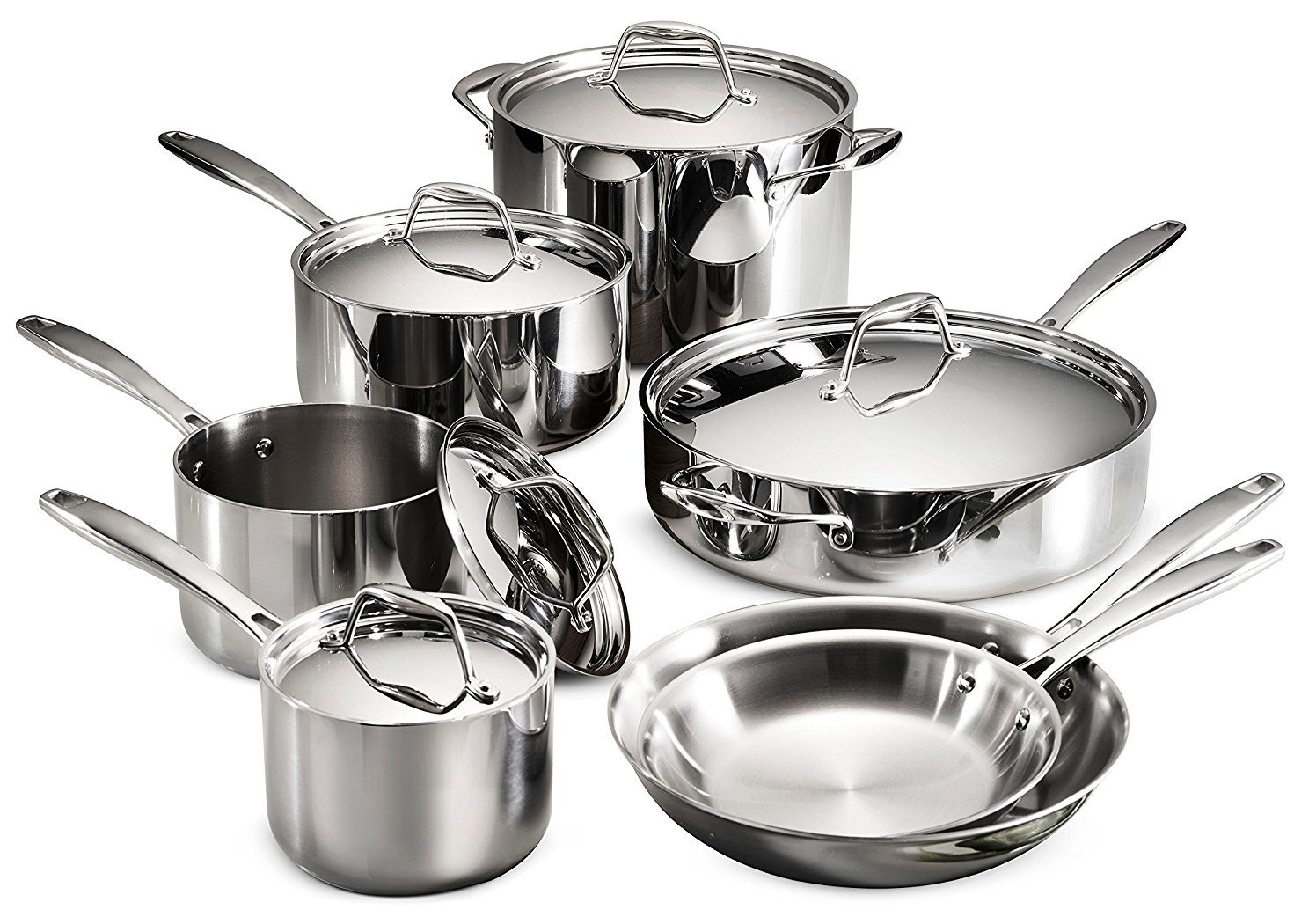tramontina vs all clad cookware review stainless steel tri ply clad. Black Bedroom Furniture Sets. Home Design Ideas